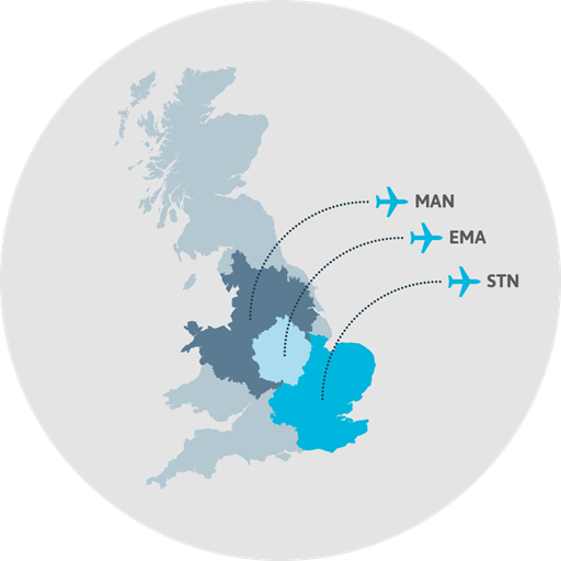 MAG's airports are located across the UK.